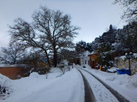 Schnee in Kreta