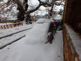 Schneesturm und Unwetter in Kreta Griechenland