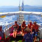 Bootsreise im Mittelmeer