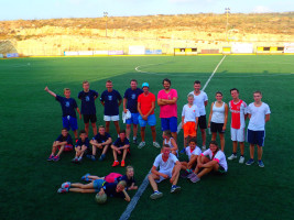 Fussball abend im Kreta Urlaub